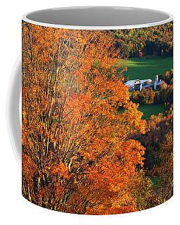 Coffee Mug featuring the photograph Hillside Farm In Fall by Alan L Graham