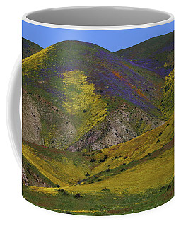 Hillsides Of Color At Carrizo Plain National Monument In California Coffee Mug