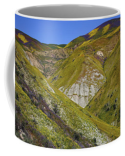 Hillsides Of Yellow At The Temblor Range Of Carrizo Plain National Monument Coffee Mug by Jetson Nguyen