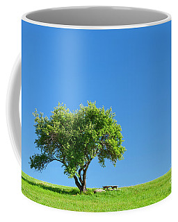 Coffee Mug featuring the photograph Hilltop Picnic by Alan L Graham