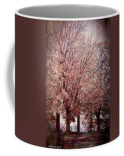 Coffee Mug featuring the digital art Hilltop Trees by Bonnie Willis