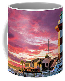 Coffee Mug featuring the painting Hilton Head Harbour Town Lighthouse by Christopher Arndt