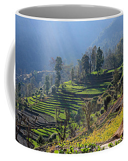 Himalayan Stepped Fields - Nepal Coffee Mug