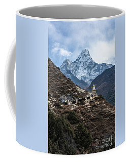 Coffee Mug featuring the photograph Himalayan Yak Train by Mike Reid
