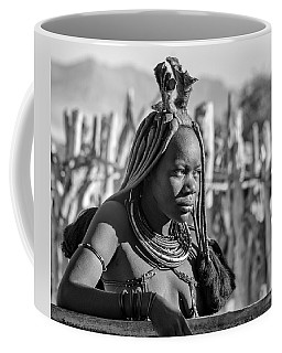 Coffee Mug featuring the photograph Himba Portrait by Rand