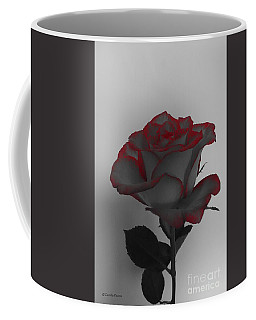 Hints Of Red- Single Rose Coffee Mug