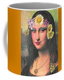 Hippie Gioconda Coffee Mug