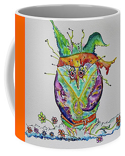 Hippy Owl- Vertical Format Coffee Mug