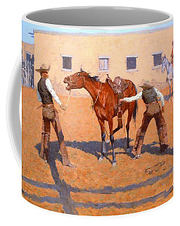 His First Lesson Coffee Mug by PGreproductions
