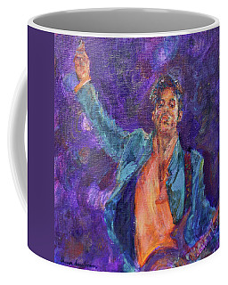 His Purpleness - Prince Tribute Painting - Original Art Coffee Mug by Quin Sweetman