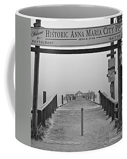 Historic Anna Maria City Pier In Fog Infrared 52 Coffee Mug
