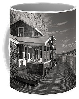 Historic Cottage  Crystal Cove Black And White Coffee Mug