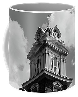 Historic Courthouse Steeple In Bw Coffee Mug