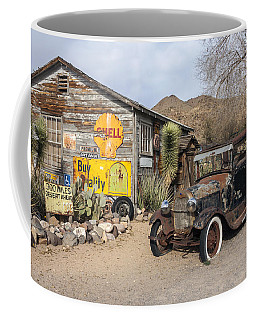 Historic Route 66 - Old Car And Shed Coffee Mug