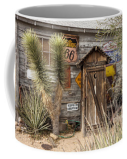 Historic Route 66 - Outhouse 2 Coffee Mug