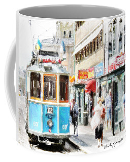 Historic Stockholm Tram Coffee Mug