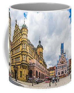 Historic Townsquare Of Rothenburg Ob Der Tauber, Franconia, Bava Coffee Mug