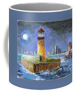 Historical 1859 South Channel Lights Full Moon Coffee Mug