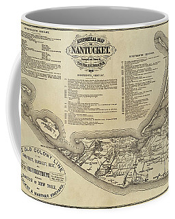 Historical Map Of Nantucket From 1602-1886 Coffee Mug