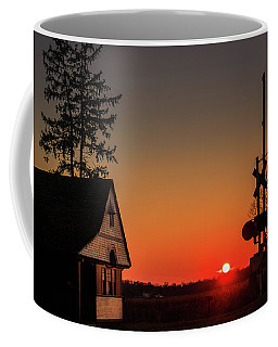 Historical Train Depot In Wayne Illinois Coffee Mug