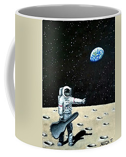 Hitchhiker With Guitar  Coffee Mug