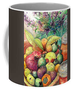 Coffee Mug featuring the painting Hitching Post Harvest by Ashley Kujan