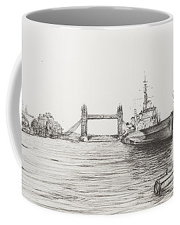 Hms Belfast On The River Thames Coffee Mug