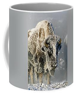 Hoarfrosted Bison In Yellowstone Coffee Mug