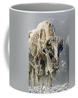 Hoarfrosted Bison In Yellowstone Coffee Mug