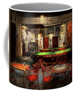 Coffee Mug featuring the photograph Hobby - Pool - The Billiards Club 1915 by Mike Savad