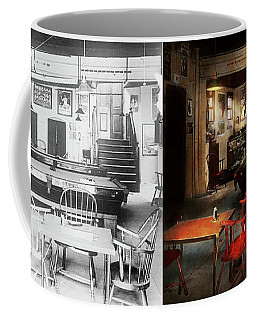 Coffee Mug featuring the photograph Hobby - Pool - The Billiards Club 1915 - Side By Side by Mike Savad