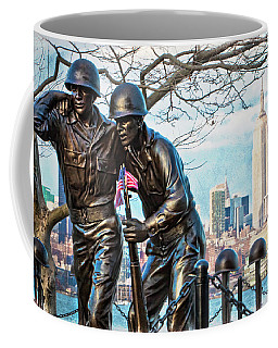 Coffee Mug featuring the photograph Hoboken War Memorial by Chris Lord