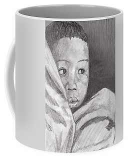 Coffee Mug featuring the drawing Hold Me Mom by Jean Haynes
