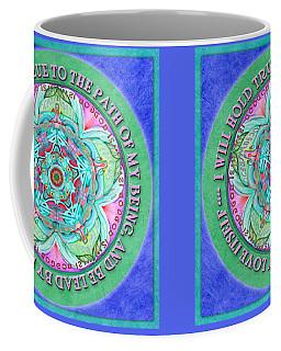 Hold True Mandala Prayer Coffee Mug