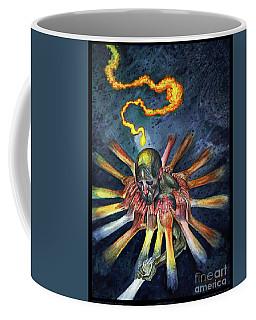 Holding Up Coffee Mug