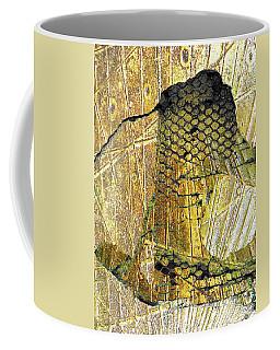 Coffee Mug featuring the mixed media Hole In The Wall by Tony Rubino