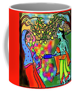 Coffee Mug featuring the digital art Holi by Latha Gokuldas Panicker