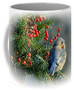 Holiday Blue Bird Coffee Mug