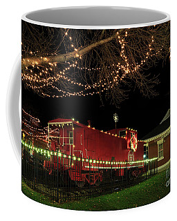 Coffee Mug featuring the photograph Holiday Caboose by Dennis Hedberg