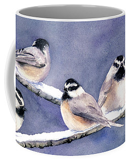 Holiday Chickadees Coffee Mug