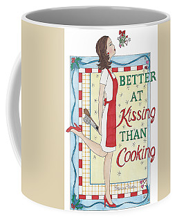 Holiday Kissing Cooking Coffee Mug
