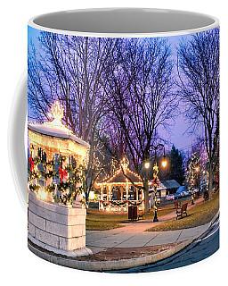 Coffee Mug featuring the photograph Holiday Lights In Easthampton by Sven Kielhorn
