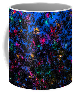 Holiday Lights In Snow Coffee Mug