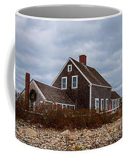 Holiday Wreath On The Lighthouse Coffee Mug