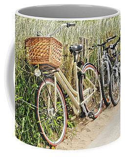 Holland - Bicycles Parked Along The Fence Coffee Mug
