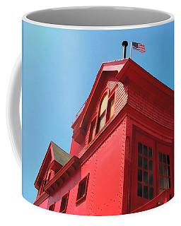 Holland Harbor Light From The Bottom Up Coffee Mug