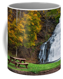 Coffee Mug featuring the photograph Holley Canal Falls by Mark Papke