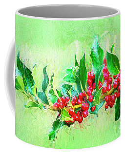 Coffee Mug featuring the photograph Holly Berries Photo Art by Sharon Talson