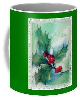 Holly Sprig Coffee Mug by Ellen O'Reilly