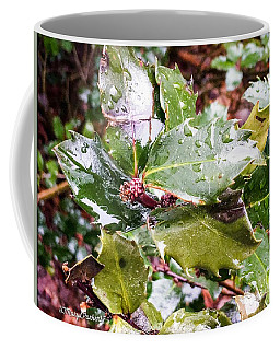 Hollyberry Bush In The Rain Coffee Mug by MaryLee Parker